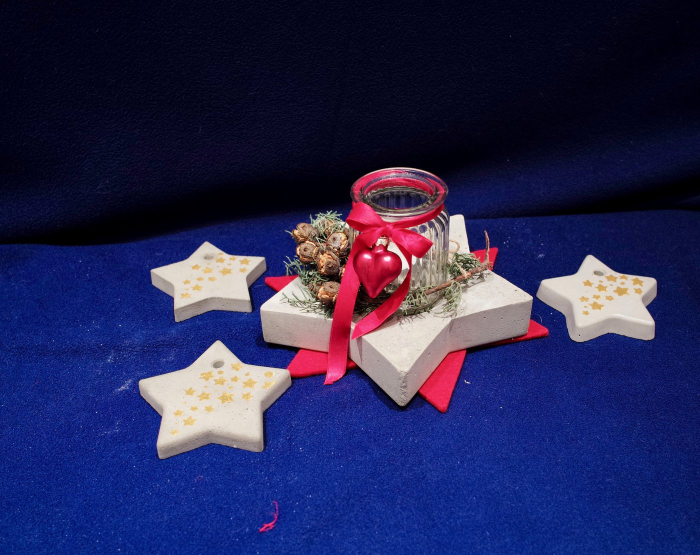 Stelle di cemento decorate2